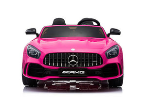 PINK Mercedes Benz AMG GTR 12V 2 Seater Kids Ride On Car With Remote Control DELUXE MODEL UPGRADED LEATHER SEATS AND UPGRADED RUBBER TIRES