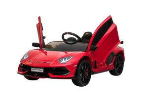 Lamborghini Aventador SVJ RED 12V Kids Ride On Car With Remote Control