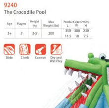 Load image into Gallery viewer, PREORDER Happy Hop The Crocodile Pool Inflatable