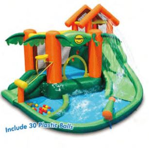 PREORDER HAPPY HOP TROPICAL PLAY CENTRE BOUNCY CASTLE