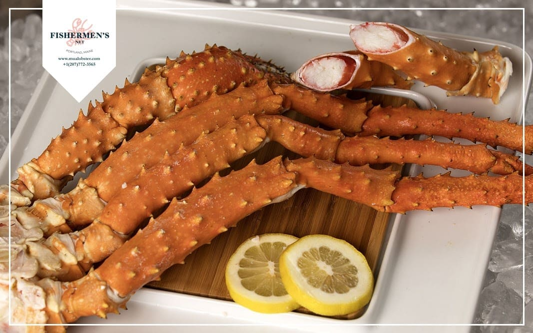 The legs of Golden King Crab