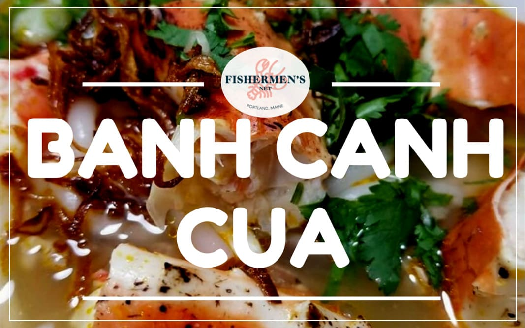 banh canh noodles soup with king crab legs