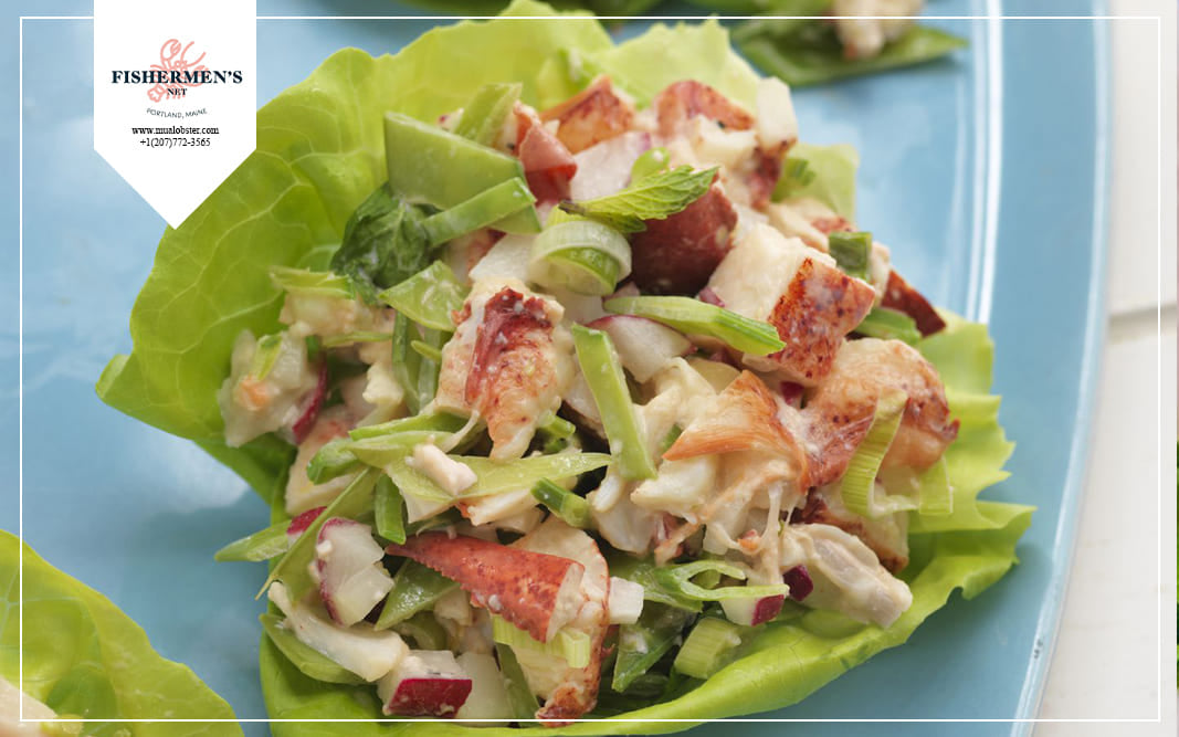 Lobster salad is very nutritious