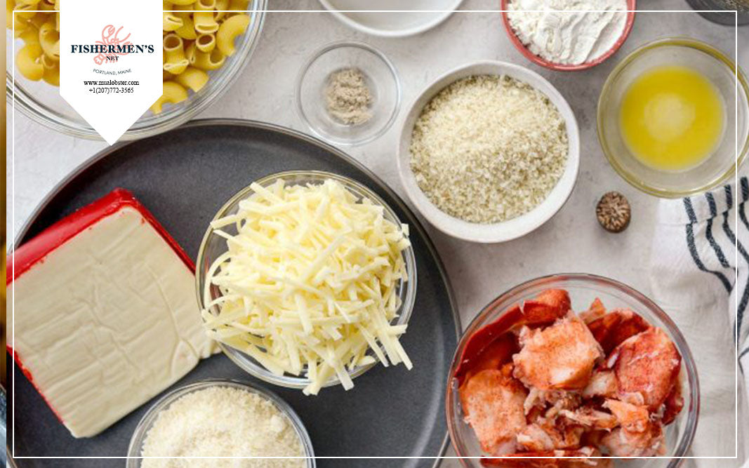 Prepare ingredients for Lobster mac and cheese
