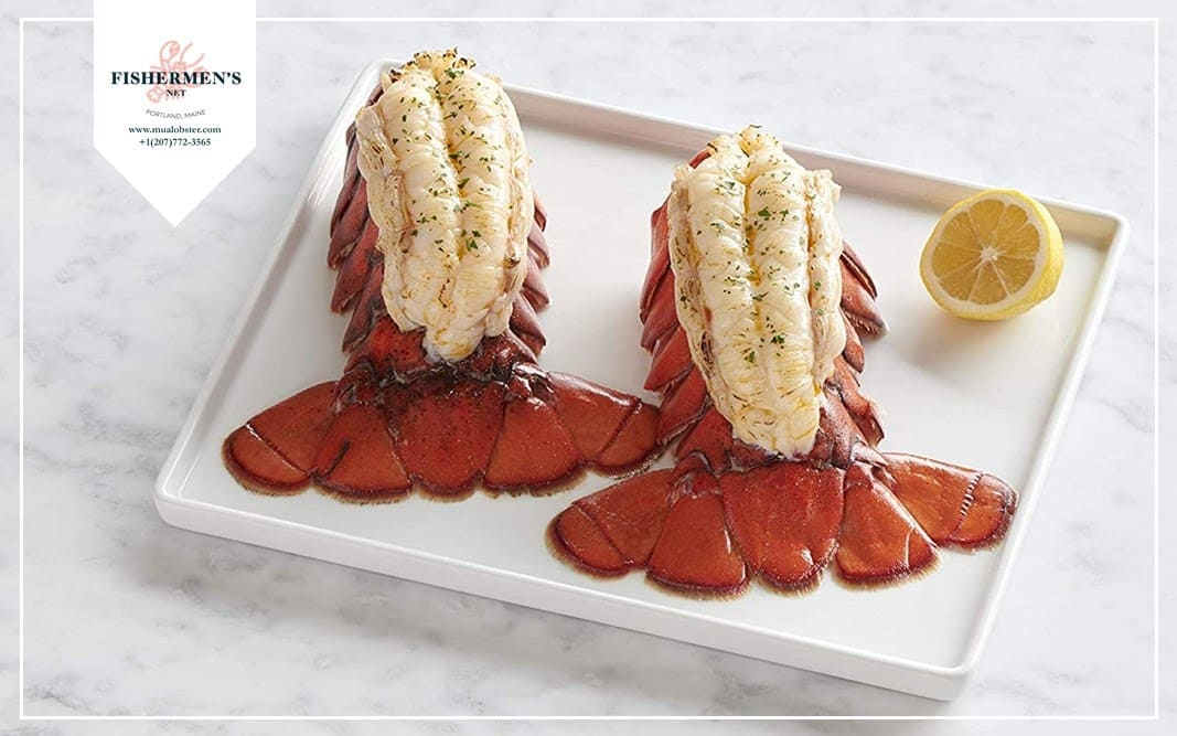 Place the lobster tails onto a baking sheet