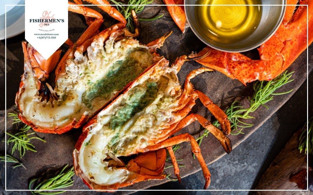 Herbs and butter lobster