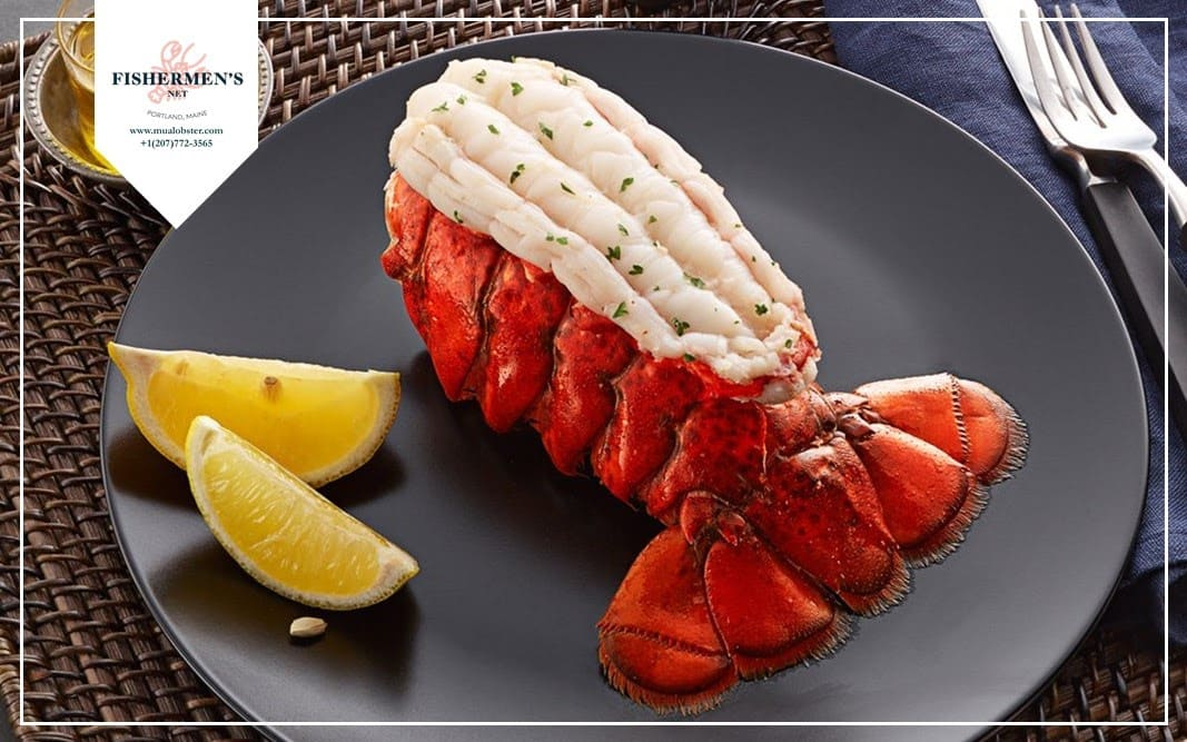 Instruction on how to butterfly a lobster tail