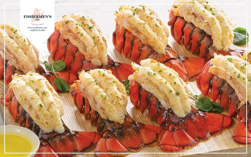 Fabulous lobster tail dish with butterflying technique