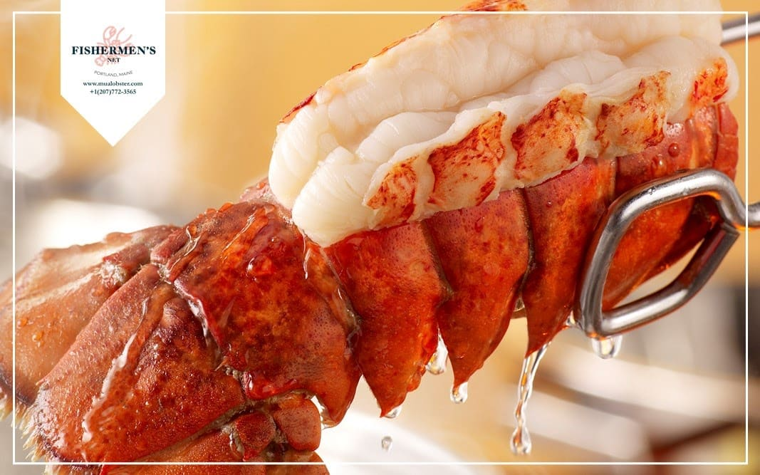 Boil the lobster tail