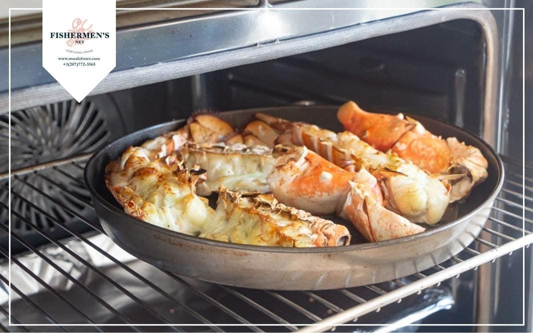 Baking lobster tails