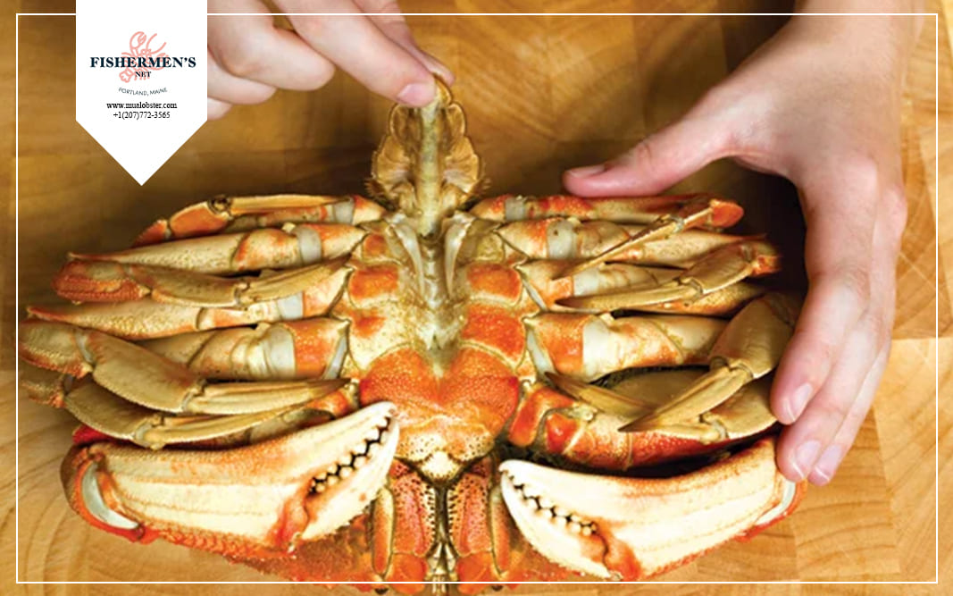how to eat dungeness crab