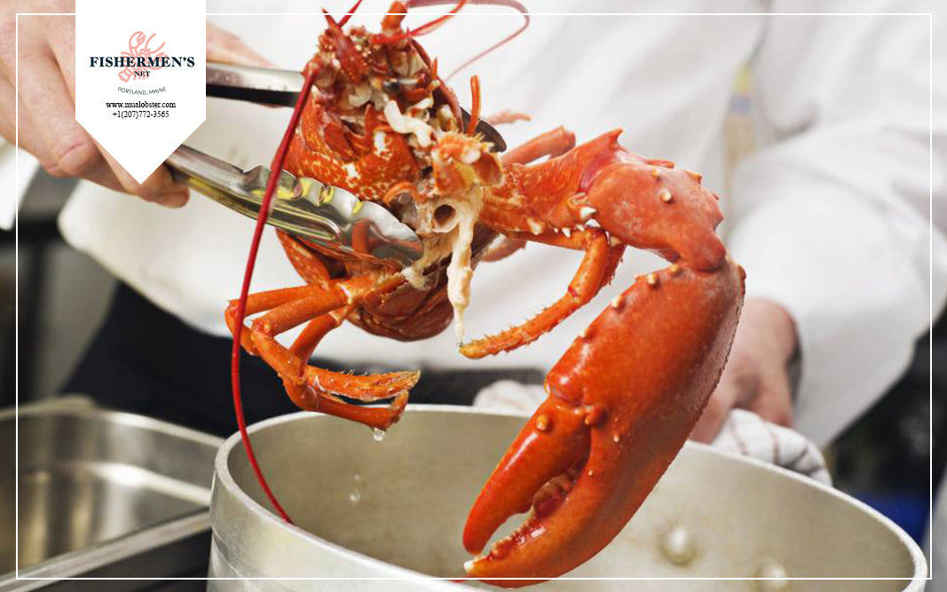 How do professional chefs humanely kill lobsters?