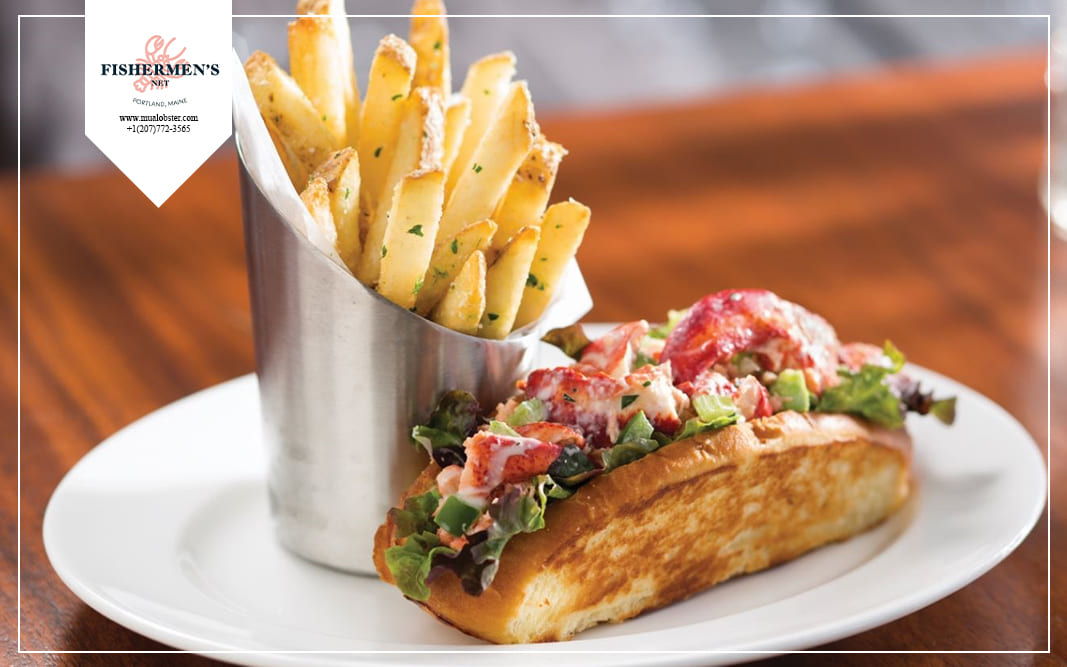 side dish with lobster roll