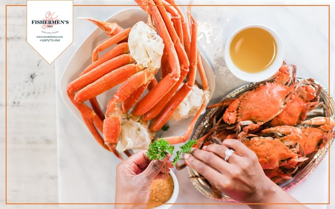 Snow Crab shell can be cracked easily by hands