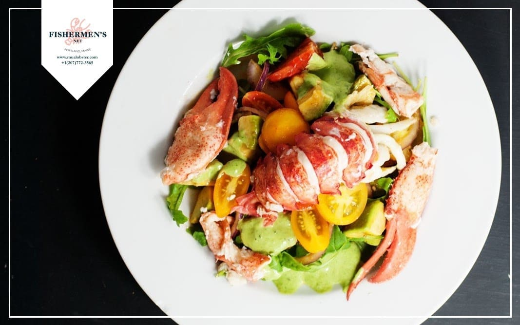 Lobster with Green Salad