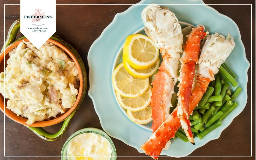 Choose side dishes for crab legs