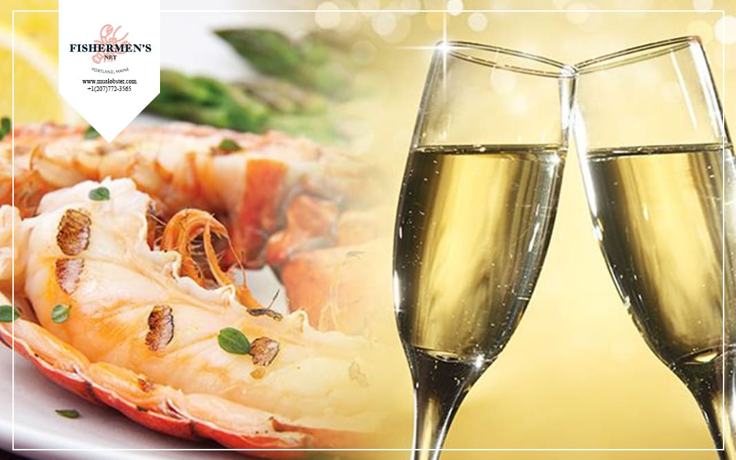 Sparkling wine is perfect to pair with lobsters