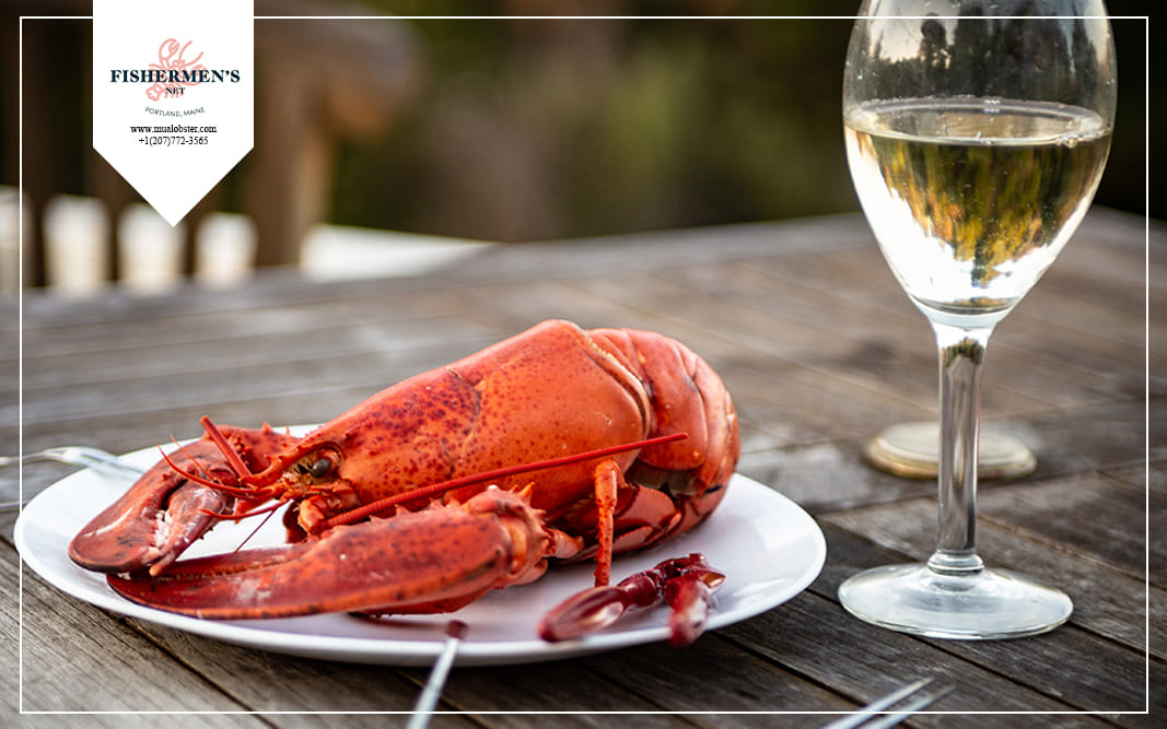 Wine is a perfect companion to lobster dinner