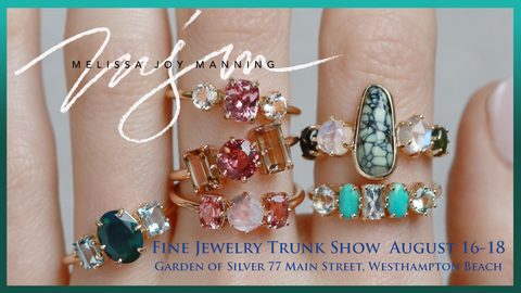 Melissa Joy Manning Fine Jewelry Trunk Show at Garden of Silver in Westhampton Beach, Long Island, Hamptons, New York.