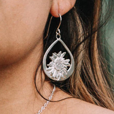 Garden of Silver Sun Drops Earrings