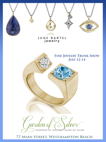 Jane Bartel Fine Jewelry Trunk Show at Garden of Silver in Westhampton Beach, Long Island, Hamptons, New York.