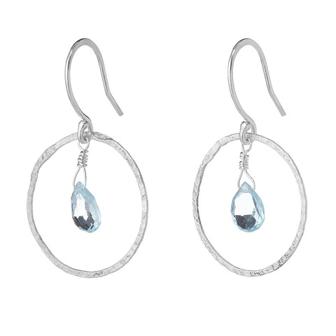 Blue Halo Earrings