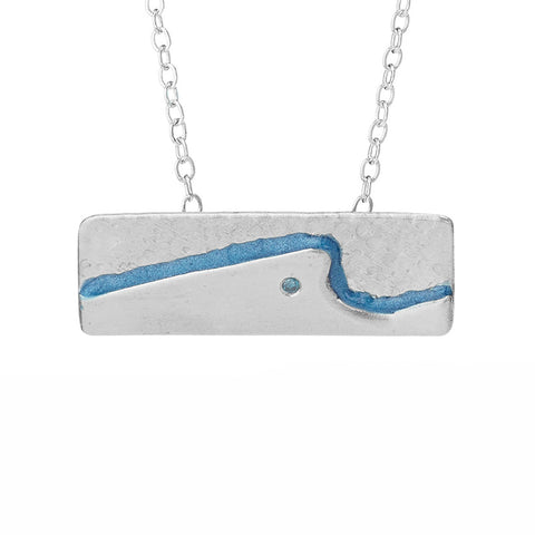 Blue Wave Rider Necklace