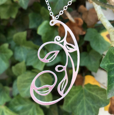 Garden of Silver 'Climbing Vine' necklace handmade in sterling silver.