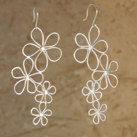 Floating Flowers Earrings