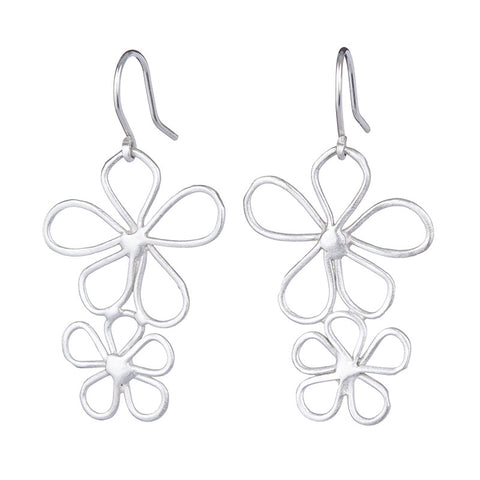 Double Daisy Flowers Earrings