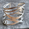Hamptons Waves Bracelet handmade in sterling silver by Garden of Silver in Westhampton Beach, Hamptons, New York.