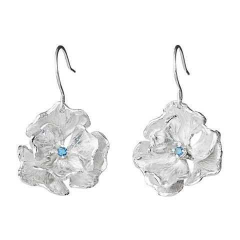Himalayan Blue Poppy Earrings