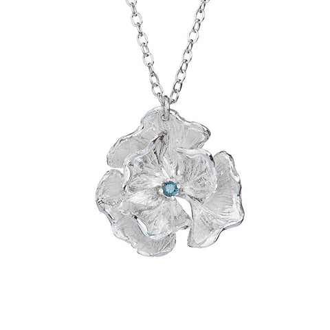 Himalayan Blue Poppy Necklace