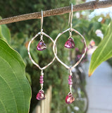 Garnet Garden Earrings handmade by Garden of Silver
