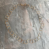 Handmade Gold Chain by Melissa Joy Manning at Garden of Silver in Westhampton Beach, New York.