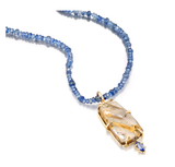 Abalone and Blue Sapphire Necklace by Jane Bartel