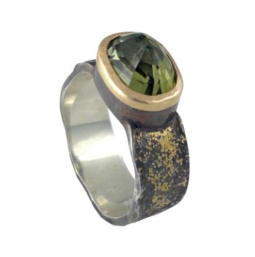 Dusted Green Tourmaline Ring by Jeanette Walker available at Garden of Silver in Westhampton Beach, New York.