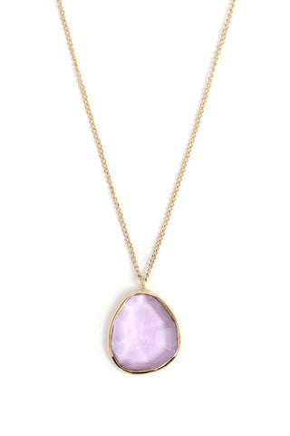 Freeform amethyst gold necklace handmade by Melissa Joy Manning available at Garden of Silver in Westhampton Beach, New York, Hamptons