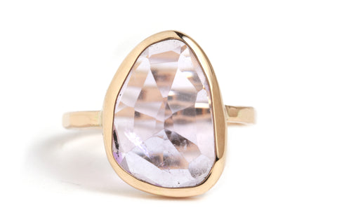 Melissa Joy Manning amethyst and gold ring handmade in California available at Garden of Silver in Westhampton Beach, New York, Hamptons.