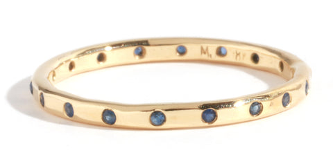18K Blue Sapphire Band by Melissa Joy Manning at Garden of Silver in Westhampton Beach, NY www.gardenofsilver.com