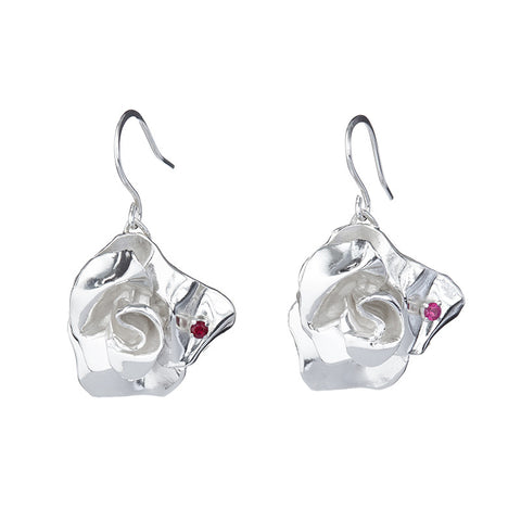 Ladybug Rose Earrings