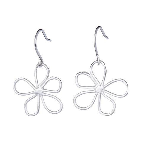 Large Daisy Flower Earrings