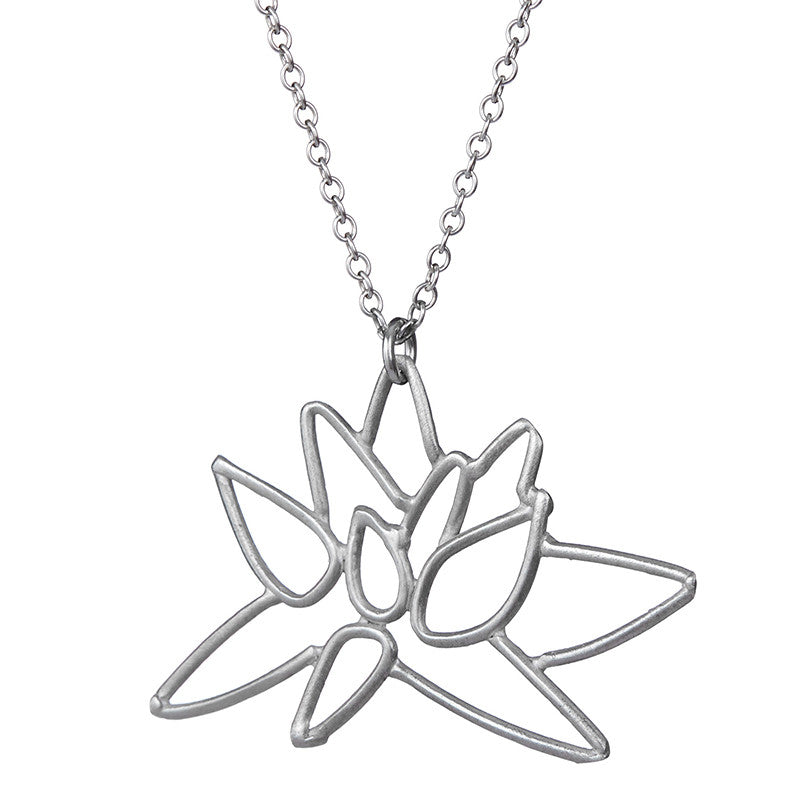 icing tone lotus necklace us pendant gold