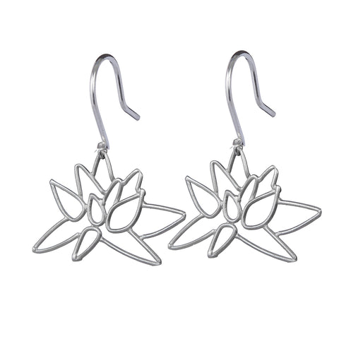 Lotus Blossom earrings handmade by Garden of Silver in Westhampton Beach.