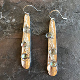 Mystic Quartz Earrings by Garden of Silver handmade jewelry made in America.