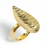 Ocean Wave Leaf Ring By Nikki Sedacca