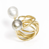18kt Gold Endless Love Ring with Pearl By Nikki Sedacca
