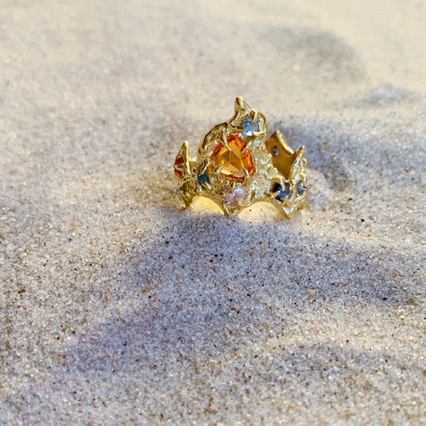 Orange Mermaid Ring by Jane Bartel at Garden of Silver in Westhampton Beach, Long Island, Hamptons