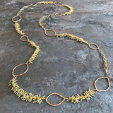 Peridot Kelp Necklace handmade by Garden of Silver in Westhampton Beach, New York.