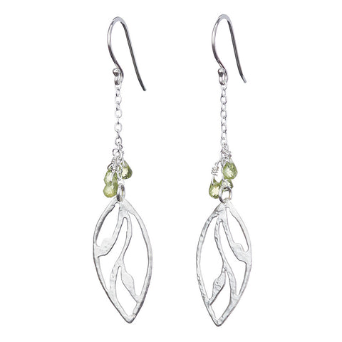 Peridot Leaves Earrings